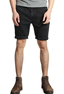 idealister Men`s Blue Thicken Fleece Stretch Slim Straight Jeans Business Denim Plus Size