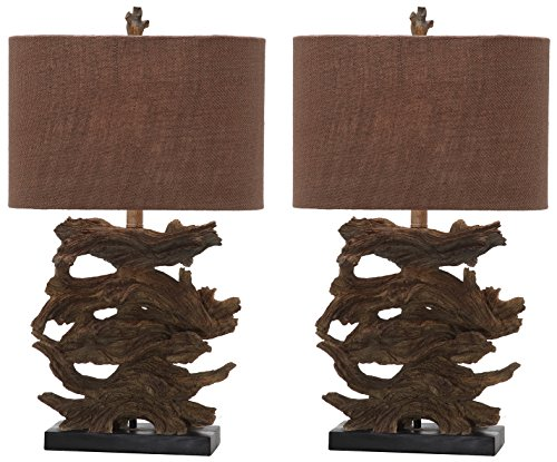 Safavieh Lighting Collection Forester Brown 26.5-inch Table Lamp (Set of 2)