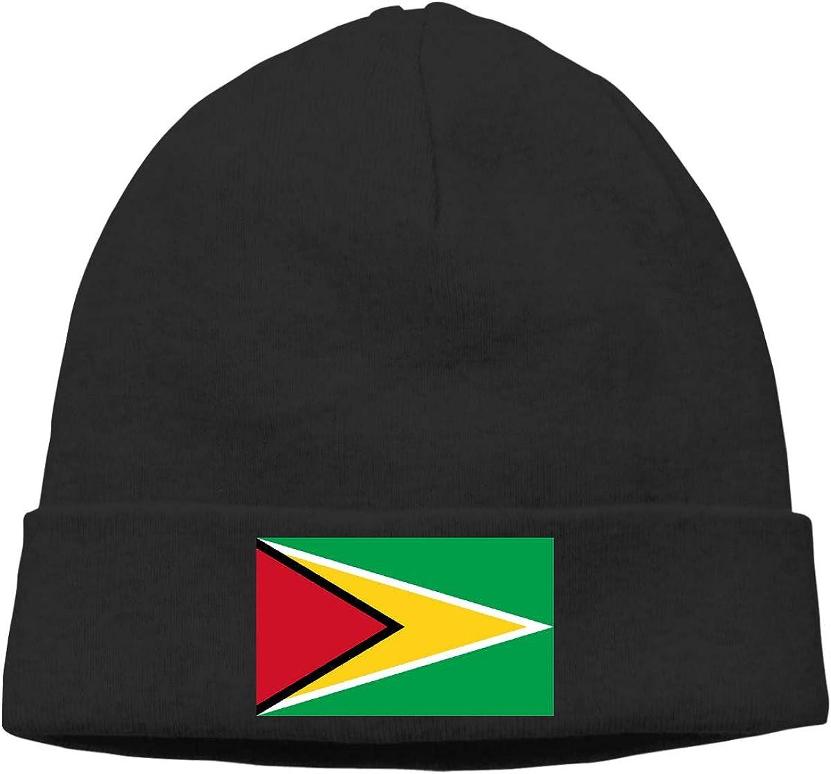 Nskngr Flag of Guyana Cap Mens/&Womens Warm /& Stylish Skull Cap Knit Cap Skully