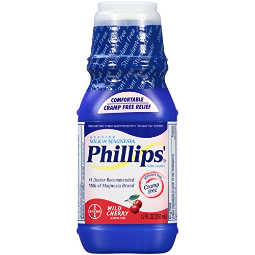 Phillips' Wild Cherry Milk of Magnesia Liquid, 12-Ounce (Packaging may vary)