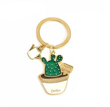 Llavero para coche Lumanuby con diseño de cactus, diseño colgante, decoración para puertas, móviles o bolsos