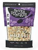Seven Sundays Muesli – Blueberry Chia Buckwheat {12 oz. pouches, 4 Count} Non-GMO Certified, Gluten Free, Hot or Cold Breakfast Muesli
