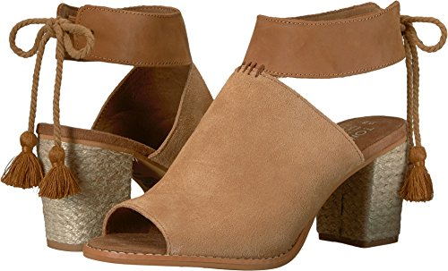 TOMS Women's Seville Black Suede/Honey Leather 6 B US by TOMS
