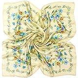 (グランクレエ) Grancreer 日本製 シルク100% スカーフ (O-サテン×ゴース花柄シリーズ) [MADE IN JAPAN]