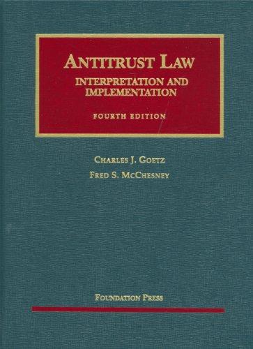 Antitrust Law, Interpretation and Implementation...
