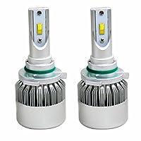 SOCAL-LED 2x Headlight Bulbs LED Conversion Kit 72W 7600LM Flip Chip LED Bulb, ALL-In-One, 6000K Crystal White