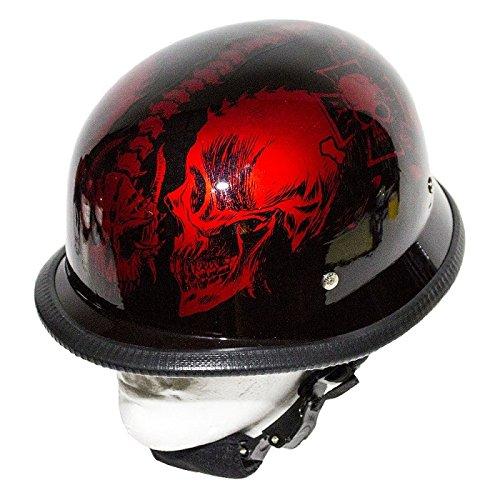 Burgundy Motorcycle Helmet - 4