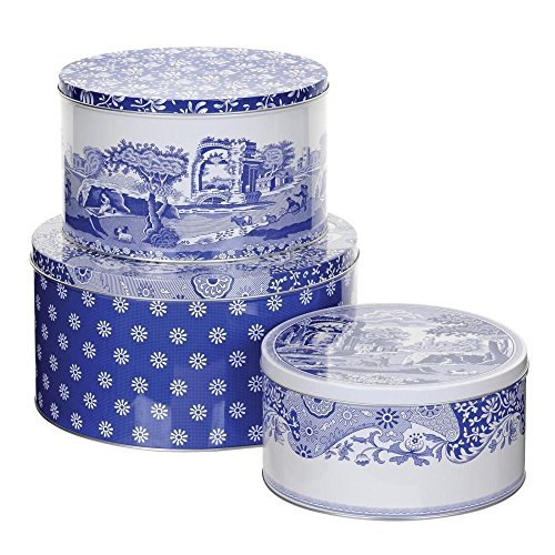 Spode - Blue Italian Set of 3 Cake Tins (Pack of 2) by Blue Italian