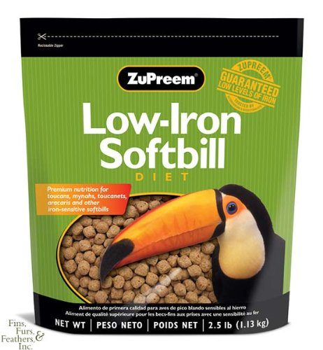 ZUPREEM 230192 Low-Iron Softbill Diet Food, 2.5-Pound, My Pet Supplies