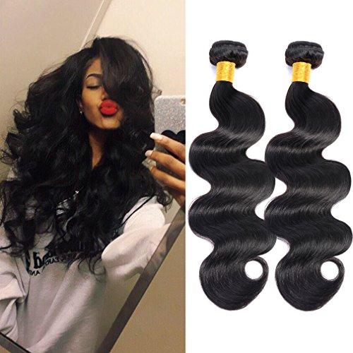 Price comparison product image GEM Beauty Hair Body Wave Brazilian Hair Bundles 3pcs lot Unprocessed Virgin Remy Human Hair Body Wave Bundles Deal 1B 16 18 20 inch