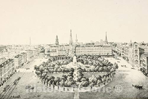 Historic Pictoric Print | Union Square | Vintage Wall Art | 14in x 11in