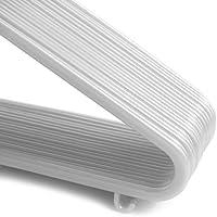 18 Unidades Hangerworld Color Blanco 30 cm Perchas De Pl/ástico Para Ni/ños Con Barra