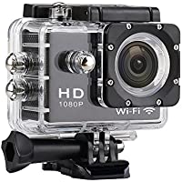 JOYCAM WIFI HD 1080P Sport Action Camera 30M Waterproof with 170 Wide Degree View Angle for Outdoor Cycling Swimming Surfing