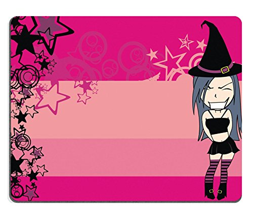 Halloween Clipart Costume (Luxlady Mouse Pad Natural Rubber Mousepad IMAGE ID 30713943 cute witch girl cartoon halloween background in vector format very easy to edit)