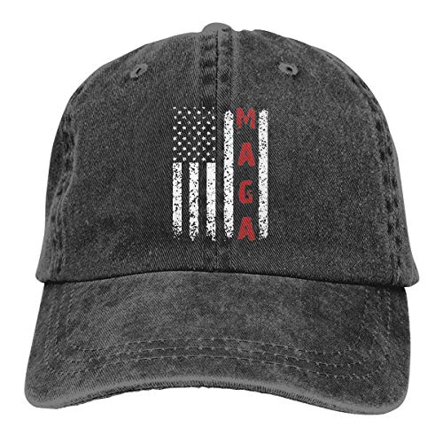 Splash Brothers Customized Unisex Make America Great Again MAGA Vintage Adjustable Baseball Cap Denim Dad Hat