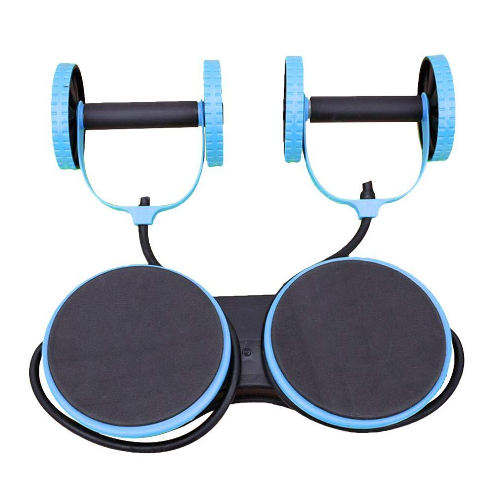 TOMOYOU Gym Multi-Function Abdominal Wheel Two-Wheel Abdomen Arm Tension Fitness Equipment Home Twisting