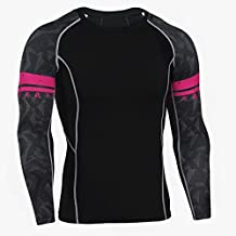 New Breathable Men Long Sleeve Compression T-shirt Cool Pattern Under Garment