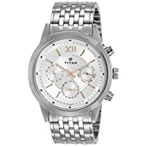 Titan Neo Analog Silver Dial Men's Watch-1766SM02