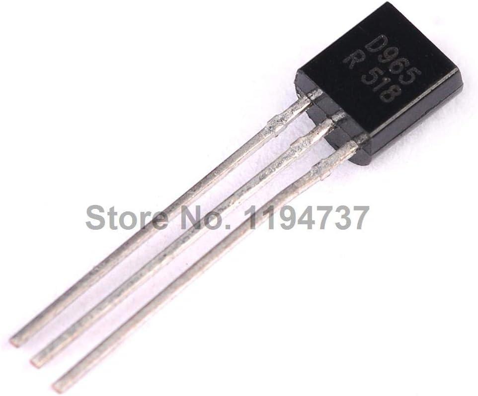 Kammas 50PCS Triode 2SD965 D965 5A//20V//1W Transistor TO-92