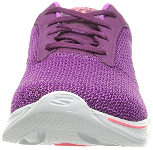 Skechers Performance Damen Go Walk 4 Lace-Up Wanderschuhe Purpur Rosa
