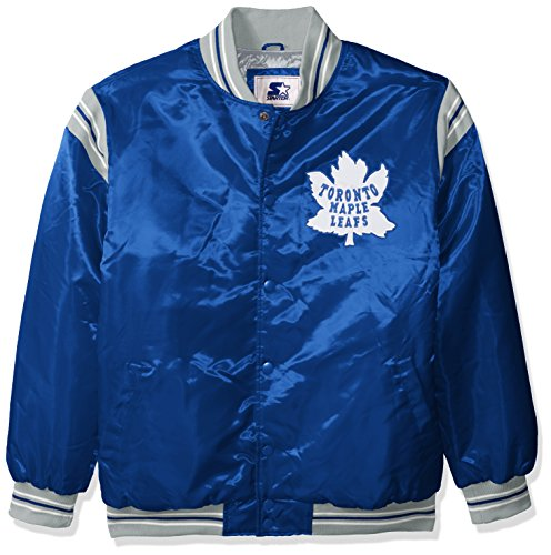 STARTER NHL Toronto Maple Leafs Men's The Enforcer Retro Satin Jacket, 4X, Blue ()