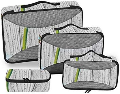 トラベル ポーチ 旅行用 収納ケース 4点セット トラベルポーチセット アレンジケース スーツケース整理 タンポポ 花柄 蝶 収納ポーチ 大容量 軽量 衣類 トイレタリーバッグ インナーバッグ