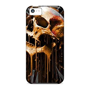 Hot Design Premium UbFFlzl1813yKwjR Tpu Case Cover Iphone 5c Protection Case(melting Skull)