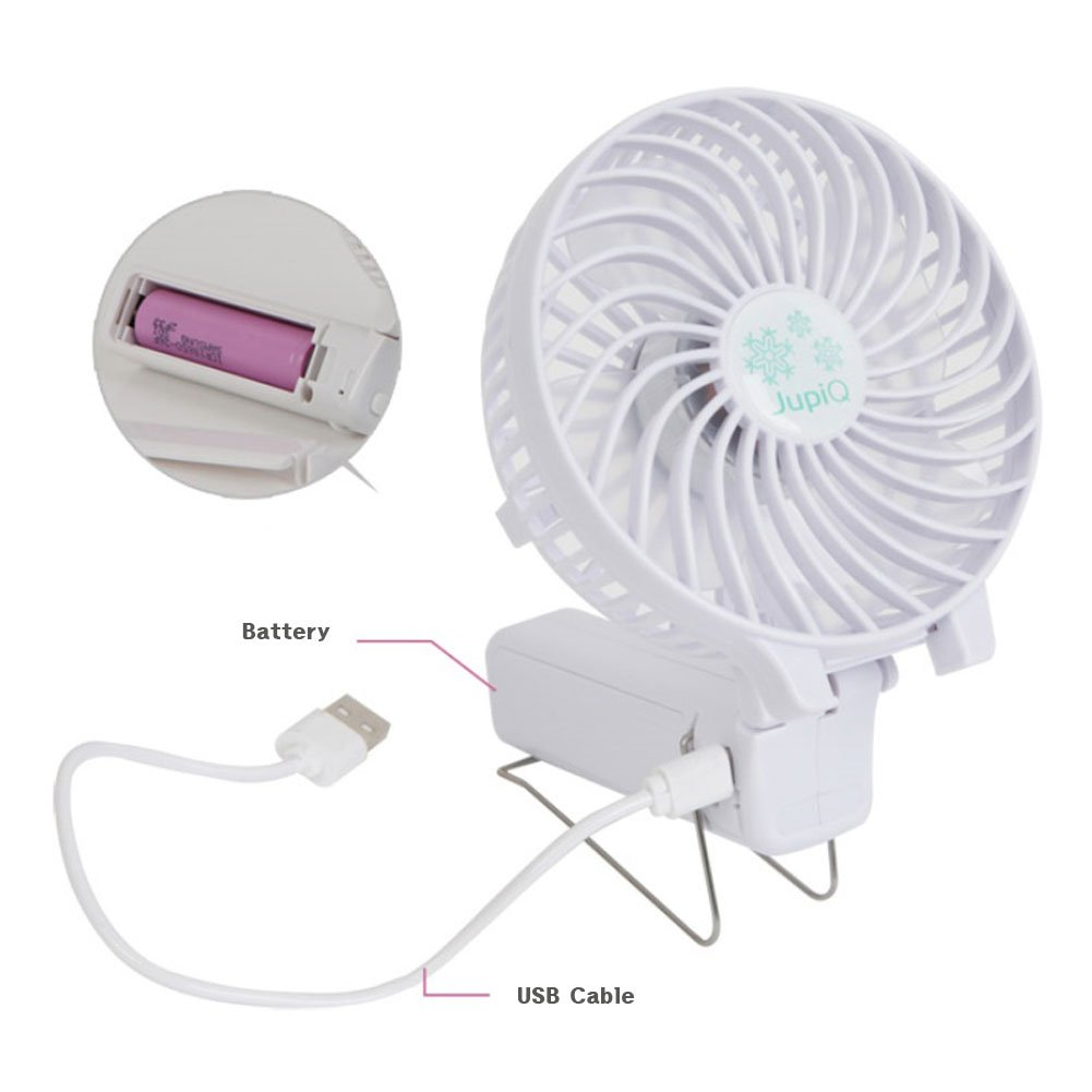 Frombi Handy Tornado USB Battery Recharble Portable foldable Air Mini Fan (White)