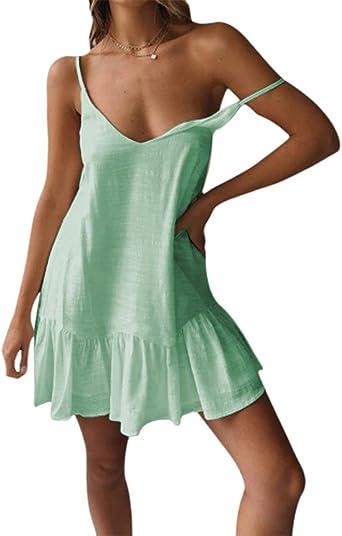 Women Summer Print V-Neck Sleeveless Straps Vest Shirt Casual Beach,White,M,United States