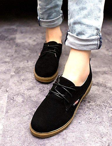 Décontracté Yellow Femme Chaussures richelieu daim confort talon noir Njx Travail 5 bureau amp; Bas us7 Uk5 Rouge 5 Jaune Cn38 Eu38 qX6wqxnp