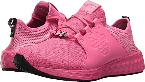 New Balance Girls' Cruz v1 Disney Running Shoe, Pink/Black, 5.5 M US Big Kid -