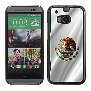 - Mexican FLAG - - Monedero pared Design Premium cuero del tir¨®n magn¨¦tico delgado del caso de la cubierta pata de ca FOR HTC M8 One 2 Funny House