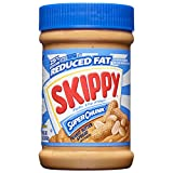 Skippy Reduced Fat Super Chunk Peanut Butter Spread, 16.3 Ounce (Pack of 6)