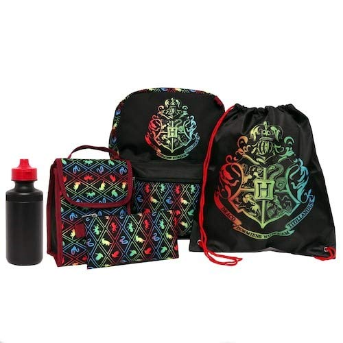 Harry Potter 5 in 1 Backpack Including Lunch Tote, Cinch Bag, Gadget Case & Water Bottle