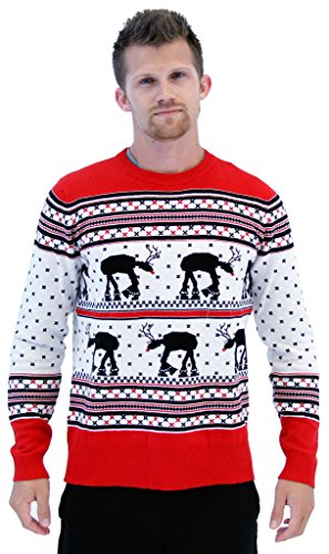Star Wars AT-AT Reindeer Ugly Christmas Sweater