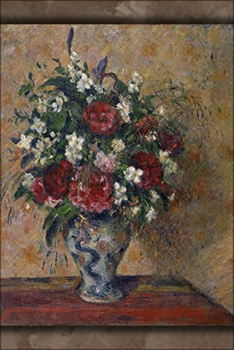 24x36 Poster; Camille Jacob Pissarro - Still Life With Peonies And Mock Orange 1872 (Peony Still Life)