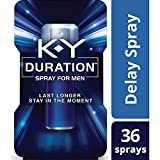 K-Y Duration Male Genital Desensitizer Spray to last longer, fl Oz., 36 Sprays/0.16