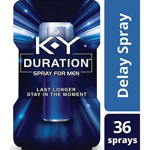Duration Spray for Men,  K-Y - Male Genital Desensitizer Spray to last longer, 0.16 fl Oz.,  36 Sprays/0.16 Made With Delay Lube for Men To Help Men Last Longer In Bed (Best Thing To Use As Lube)