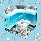 NAVAdeal Ant Farm Castle For Kids - Christmas Gift Version W/ White Snowflake