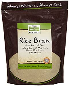 Amazon.com : NOW Foods Rice Bran - 20 oz : Grocery