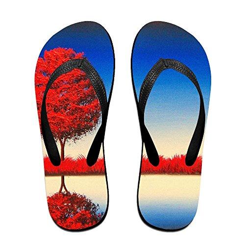 for Flops Flip Black PTJHKET Slippers Kids Tree Women Red Men 6XRnwTq