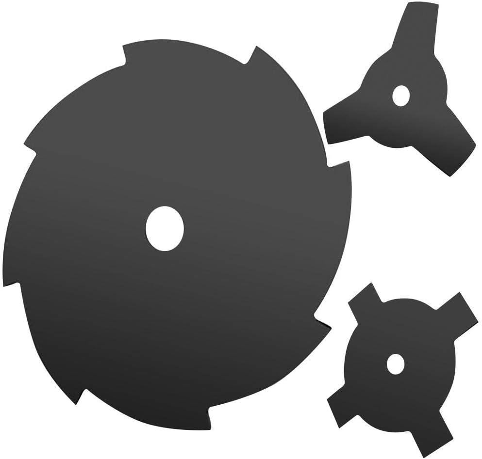 Tagliasiepi A Disco per Falciatura Rapida awhao Falciatrice A Lama Piatta 3 4 8 Dente Lama Decespugliatore Sostitutiva per Falciatrice Tungsteno in Acciaio da 10di Diametro con Rondella Everyone