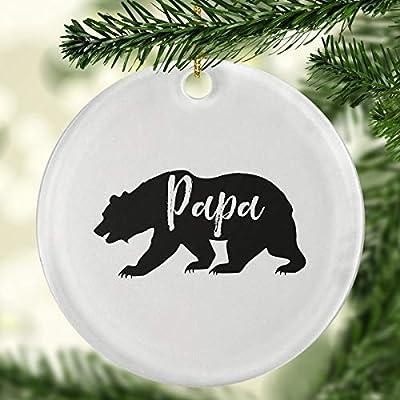 Amazoncom Weewen Papa Bear Ornament Camping Ornaments Camping