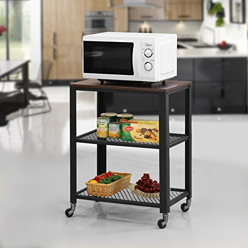 Review SONGMICS Rustic Kitchen Trolley