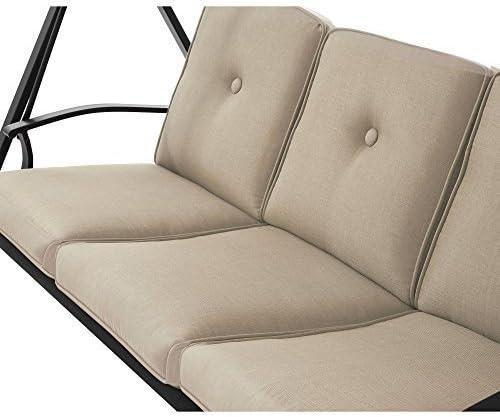 Mainstays furniture New Belden Park 3-Person Hammock Swing Tan