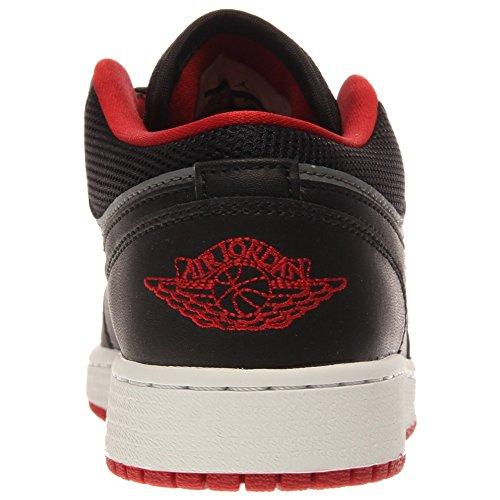 Nike Air Jordan 1 Low Bg, Zapatillas de Deporte para Niños Negro / Rojo / Gris (Black / Gym Red-Cool Grey)