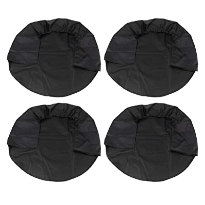 Tire Covers 4 Pack, Wheel Tire Covers for RV Auto Truck Car Camper Trailer,Waterproof Sun-Proof Weatherproof Tire Protectors, Fits for 30-32 Inch - Black: Automotive