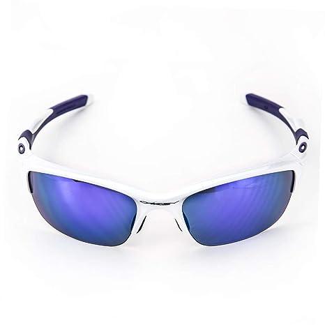 adfb56174f Oakley Half Jacket 2.0 914408 62, Occhiali da Sole Uomo, Bianco (White/