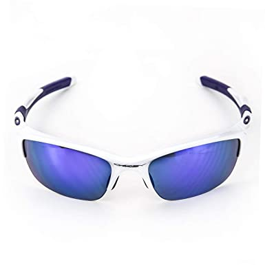 399a61f161 Amazon.com  Oakley Half Jacket 2.0 Adult Sport Designer Sunglasses Eyewear  - Pearl Violet Iridium One Size Fits All  Oakley  Clothing