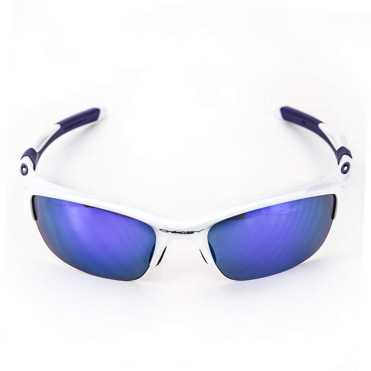 Oakley Men's OO9144 Half Jacket 2.0 Rectangular Sunglasses, Pearl/Violet Iridium, 62 mm